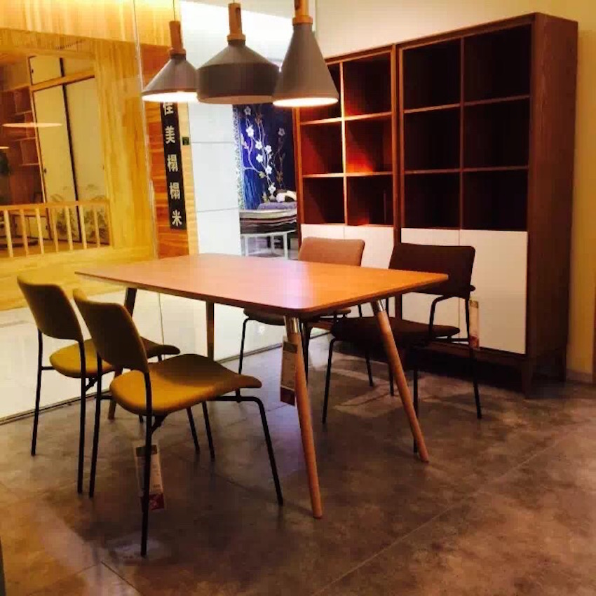 杭州第六空间DERLOOK Hangzhou China—Stilo chair复古椅+Flux table 足形桌(1)